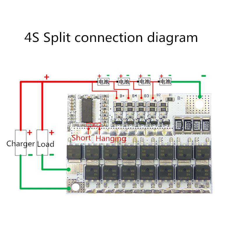 4S 100A BMS 12V 16.8V 21V 100A Li-ion LMO Ternary Lithium Battery Protection Circuit Board Li-POLYMER Balance Charging Module
