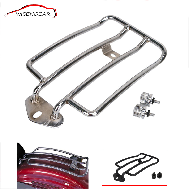 WISENGEAR Motorcycle Rear Plated Support Shelf Frame Backrest Luggage Rack For Harley Sportster Custom Low XL 883 1200 C/5 partol black car roof rack cross bars roof luggage carrier cargo boxes bike rack 45kg 100lbs for honda pilot 2013 2014 2015