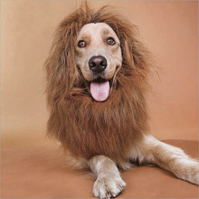 Lion Mane Wig Pet Cosplay Winter Cat Dog Costume Halloween Puppy Headgear Supplies New Dress Up Dog&Amp;Cat Sleeve