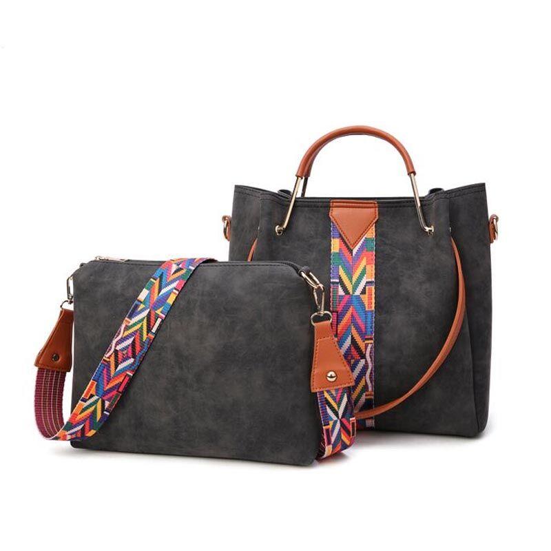Cuero mujeres bolsas de hombro moda Top-Handle Bolsos ocasionales del mensajero del diseñador alta calidad Bolsos Mujer