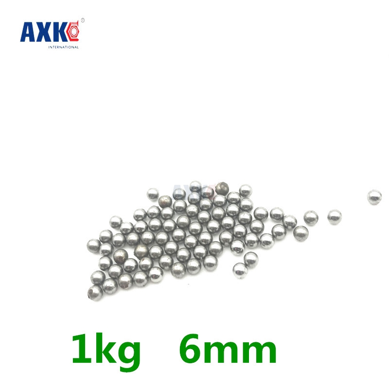 Good Deal 1kg 6mm Diameter Steel Ball Bearings Bicycle Replacement Parts imc hot 100 pcs bicycle replacement silver tone steel bearing ball 6mm diameter