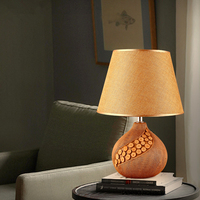 Simple Ceramic Table Lamp Creative Personality Living Room Desk Lamp Bedroom Bedside Table Lights European Style