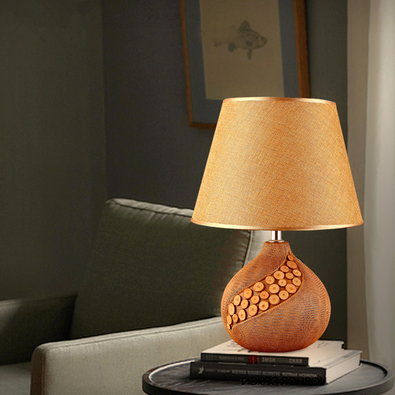 Simple ceramic table lamp creative personality living room desk lamp bedroom bedside table lights European style table lamps nv print nv print 01604