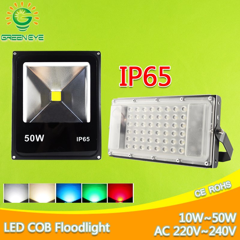 LED Flood Light 10W 20W 30W 50W AC/DC12V 220V flood light with sensor Lamp Reflecto IP65 Waterproof Garden Outdoor RGB lighting 10w 800lm white flood light projection lamp 220v