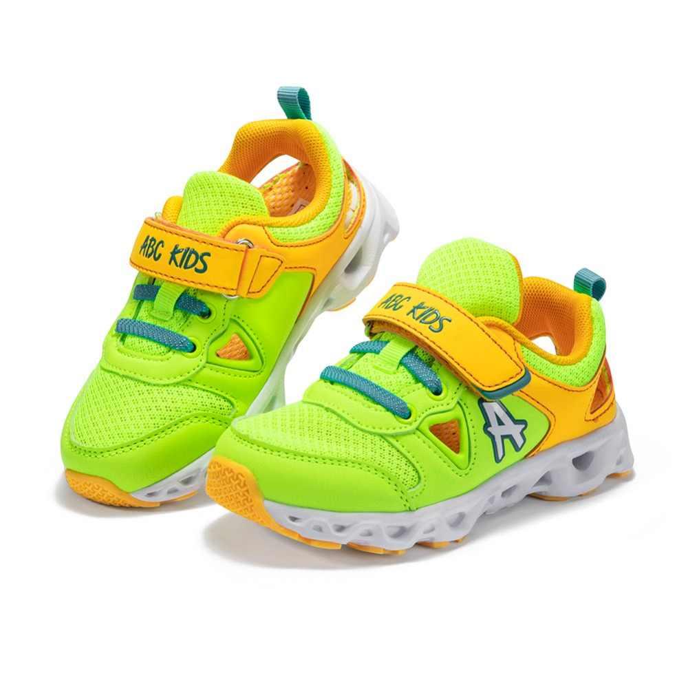 Abckids 2-7T กีฬารองเท้าวิ่งเด็กรองเท้าผ้าใบเด็กรองเท้าผ้าใบรองเท้าวิ่งกีฬาเด็กสบายๆรองเท้าลื่นสำหรับเด็ก