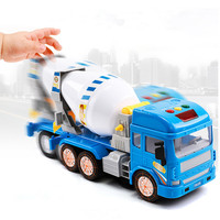 Simulation Concrete Mixer Truck With Light & Sound For Kid's Toy Gifts Large Cement Mixer Model Engineering Car Toys