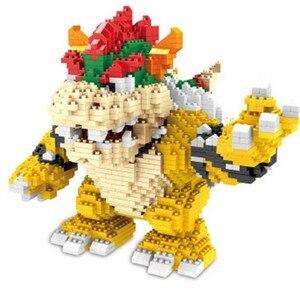 Image 4 - ZMS Magic Blocks Big size Yoshi Mini Blocks Mario Micro blocks Anime DIY Building Toys Juguetes Auction Figures Kids Gifts 3492