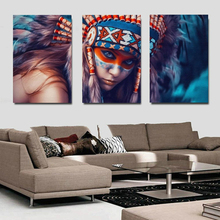 3Pcs/set 16x24inch Abstract Canvas Art Feathers Native American Poster Painting Print Wall Art Decor Picture for Home Drop Ship 41xdzs 490 491 492 3pcs fashion abstract print art