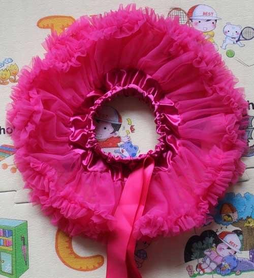 Пышная юбка для малышей Мягкая шифоновая Пышная юбка-пачка для малышей Юбка-пачка для маленьких девочек детская одежда юбка-пачка для новорожденных - Цвет: hot pink