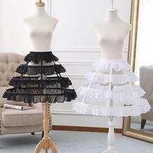 Женская короткая юбка в стиле Лолиты для птичьей клетки, эластичная резинка на талии, 3 кольца, плиссированные оборки, ТРАПЕЦИЕВИДНОЕ свадебное платье для косплея, кринолиновая Нижняя юбка