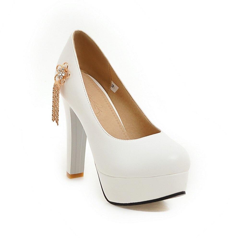 2019 New elegant women pumps high heels platform women shoes black pink white blue