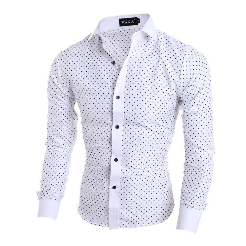 Novo 2018 moška majica majica Casual moška majica slim fit srajco - Moška oblačila - Fotografija 2