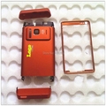 Orange Brand New For Nokia N8 Full Housing Cover Case + Buttons + Front Metal Frame, free shipping
