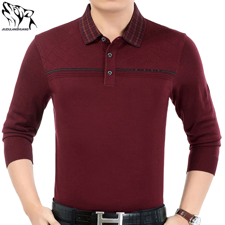Mens polo shirt brands 2017 men 39 s new autumn middle aged for All polo shirt brands