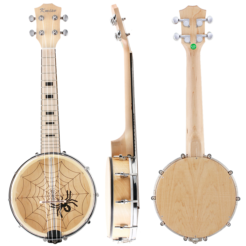 Kmise Banjo Ukulele Uke 4 String Ukelele Uke Concert 23 Inch Size Maple Wood concert ukulele kmise uke 23 inch basswood black tint satin 4 string hawaii guitar with gig bag tuner