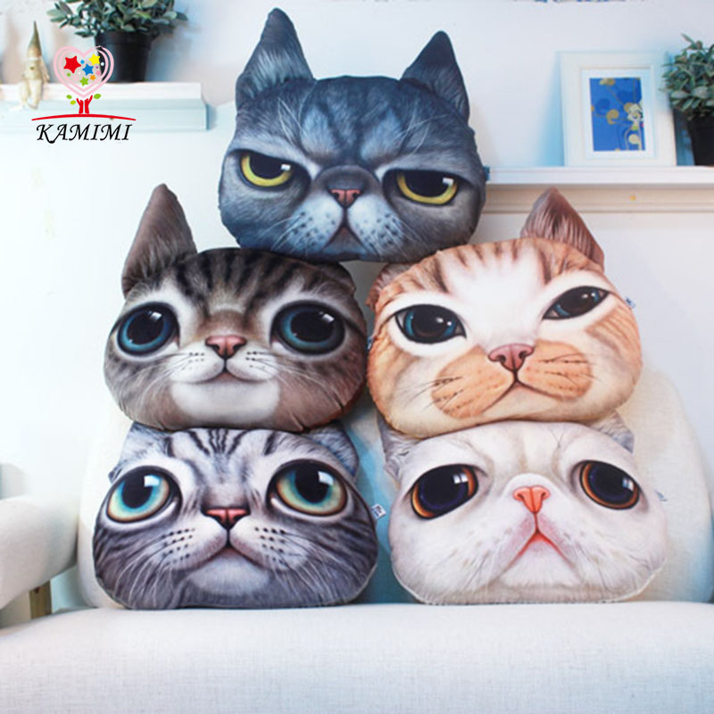 play toy 3D Printed Cat Style Fashion Baby Pillow Bed Pillow Nap Cushion in car bed home Cotton Baby Kids Seat headrest I025