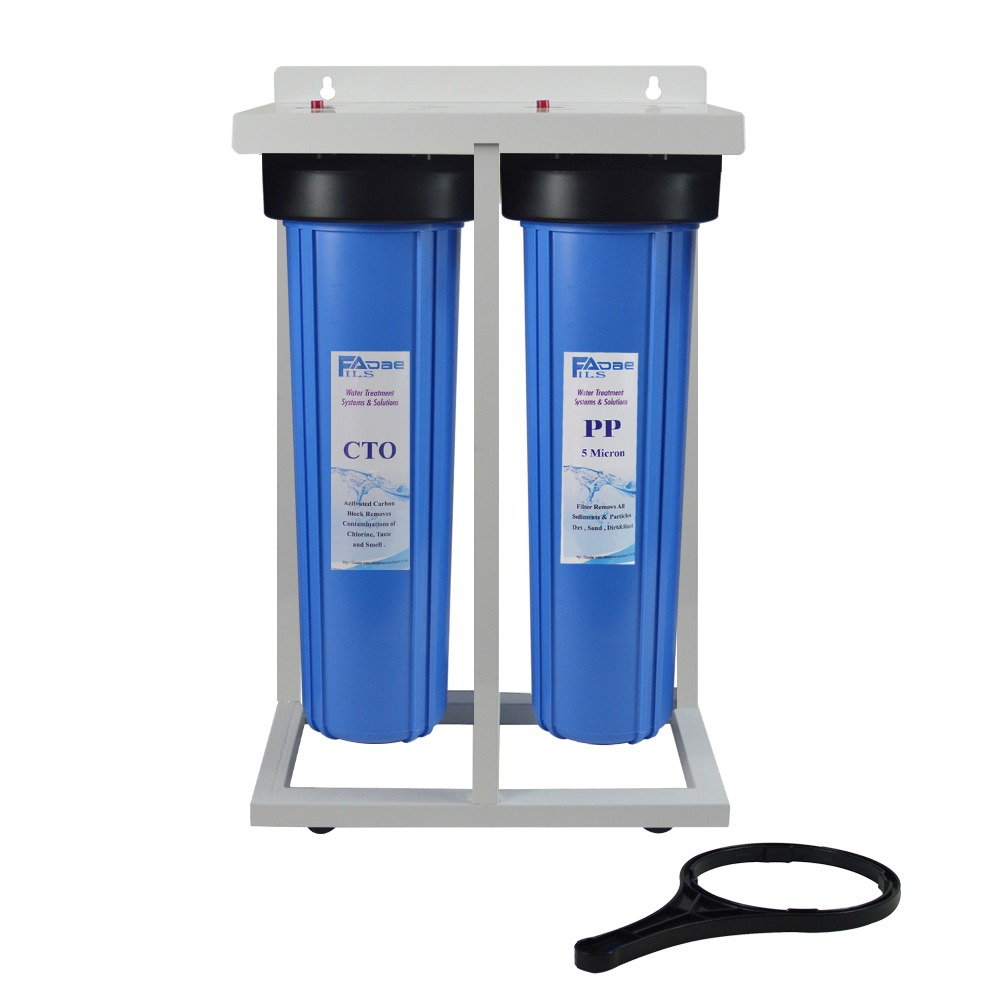 все цены на 2-Stage Whole House Water Filtration System 1 inch BRASS port with Stand, 20