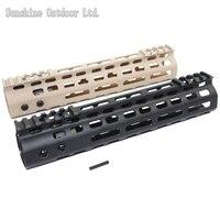 New lightweight CNC aluminum anodes M LOK 9 inch handguard rail one Picatinny rails system BK/TAN