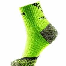 1 пара,, мужские спортивные носки TAAN, толстые хлопковые носки для бадминтона, тенниса, Нескользящие T-345