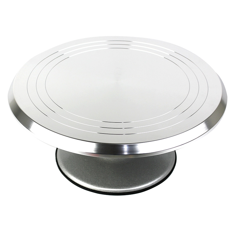 Plateau tournant de gâteau de support de gâteau d'alliage d'aluminium de 12 pouces