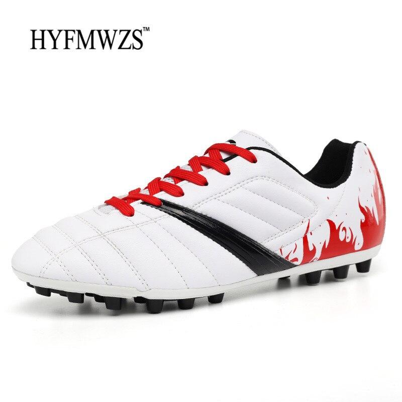 8518d0f5a6 HYFMWZS Krasovki Chuteira Futebol High Quality Men Football Shoes Superfly  Boys Soccer Shoes Long Spikes Antiskid