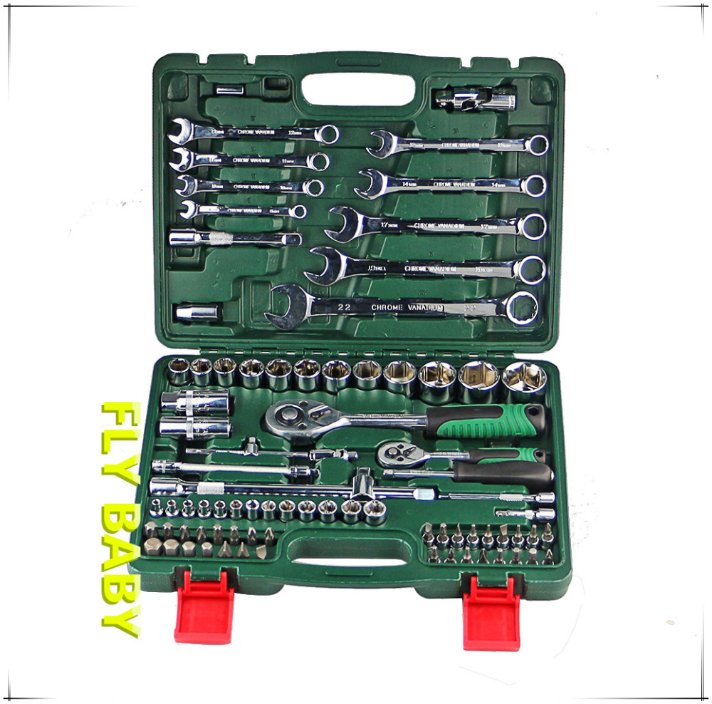 free shipping 82pcs Key set Combination Ratchet Llave Torque Wrench 1/2 Set Auto Repair Hand Tool For Car Kit universal wrench free shipping 46 pieces combination socket wrench set ratchet wrench tool torque wrench auto repair car hand tools a set of keys