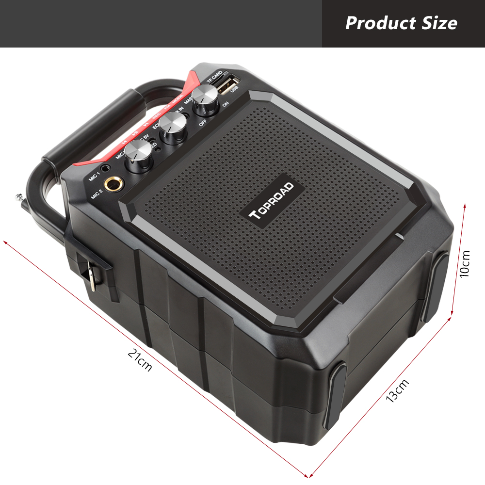 toproad portable wireless bluetooth speaker with 3d sound system microphone and remote control