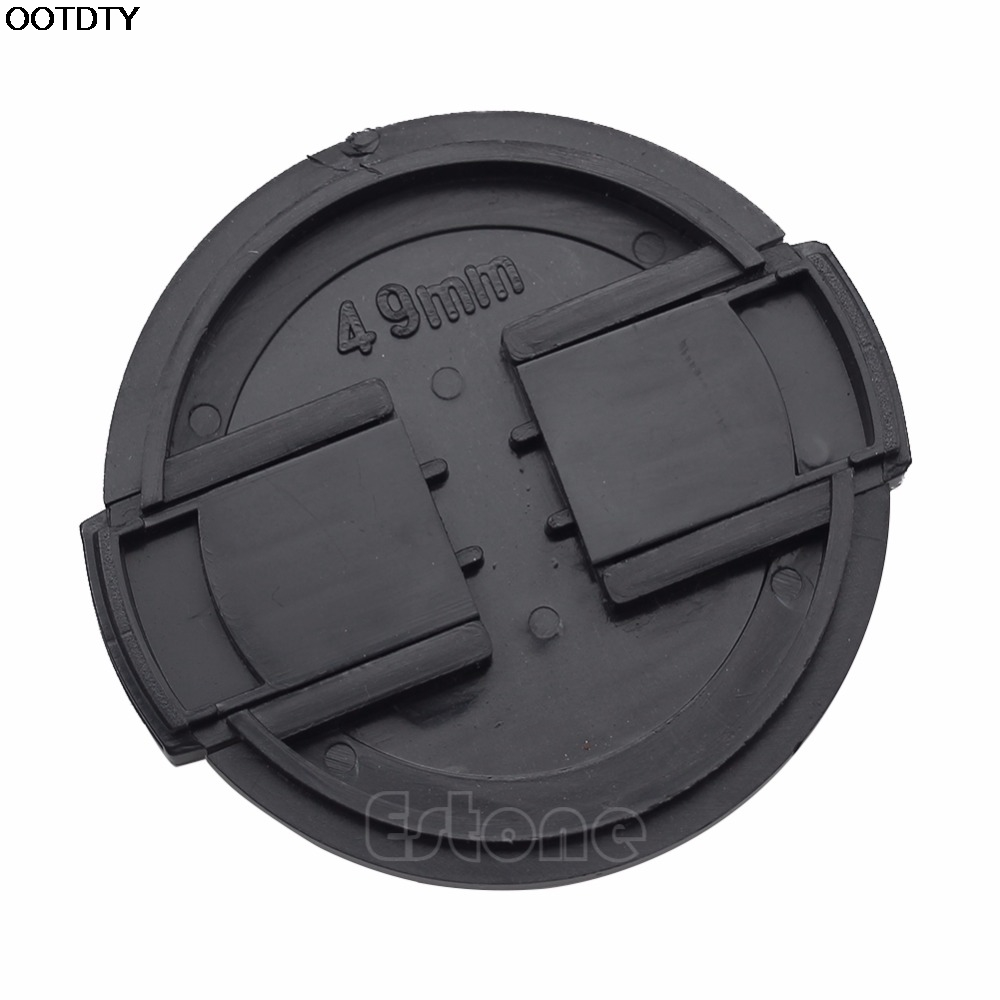 49mm Center Pinch Snap on Front Lens Cap Cover for Nikon Canon Sony DSLR camera