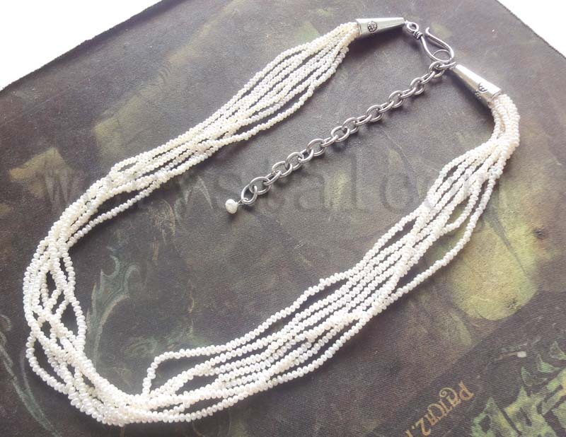 Genuine White Seed Pearls 2 3mm NecklaceGenuine White Seed Pearls 2 3mm Necklace