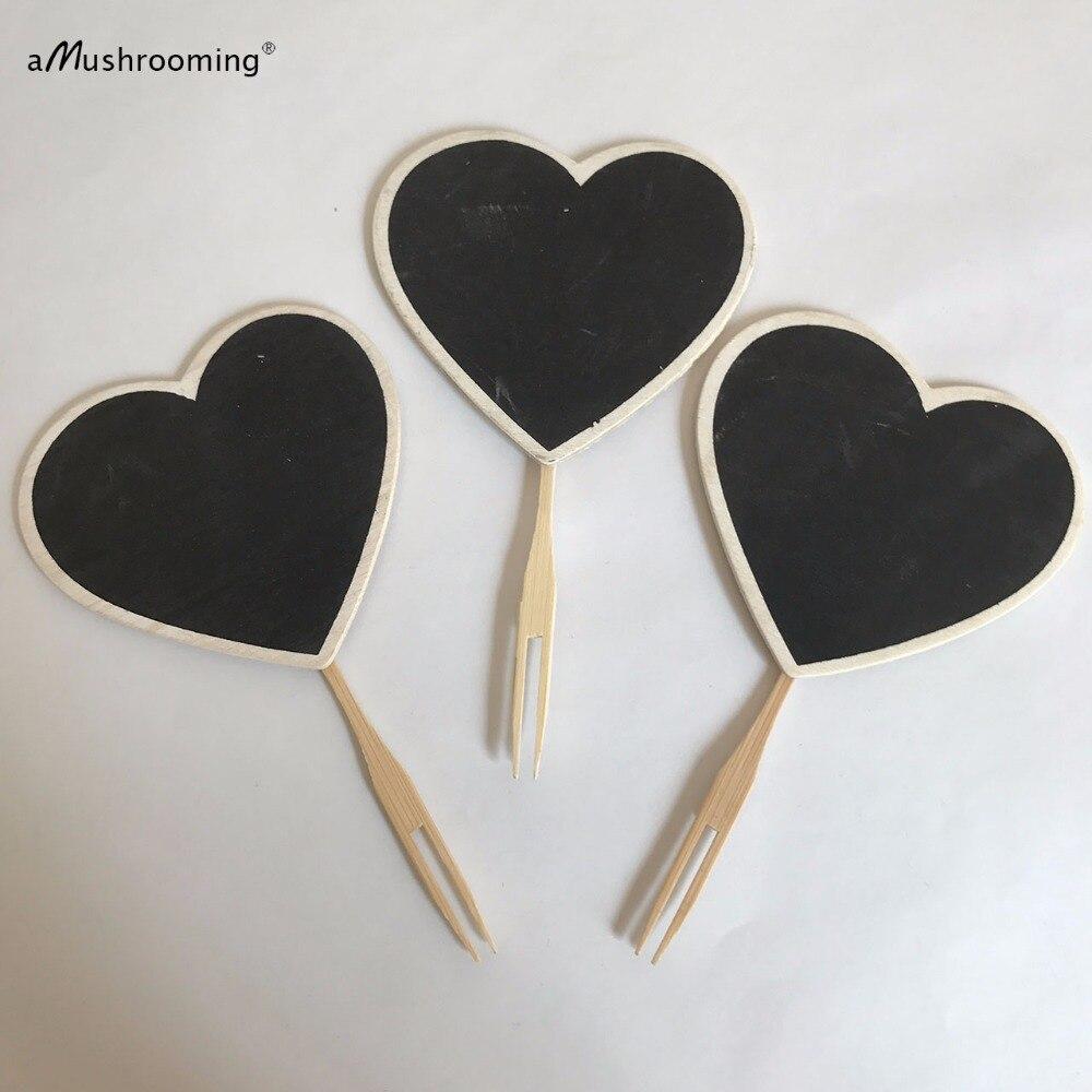 Herz Tafel Lebensmittel label Picks Valentine Partyzubehör ...