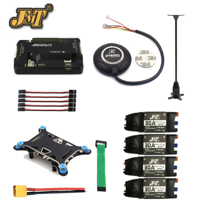 JMT 6-axis/4-axis 500-650mm RC Hexacopter Parts APM 2.8 Drone Flight Controller 7M GPS Module Compass Shock Absorber 30A ESC drone upgraded apm2 6 mini apm pro flight controller neo 7n 7n gps power module