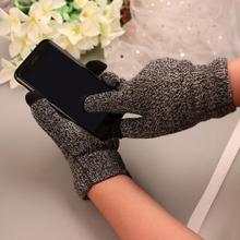 Winter Autumn Men Knitted Gloves Touch Screen High Quality M