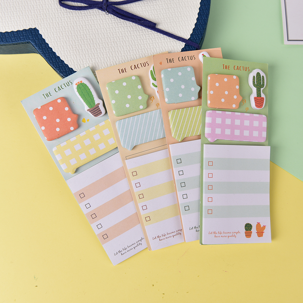 Finance Plan Natural Marble Pattern Sticky Note Bookmarks Memo Pad Stationery School Supplies