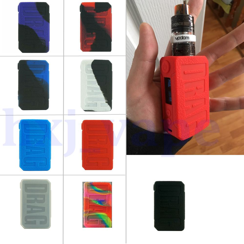 Silicone Case For Voopoo Drag 2 177W KIT Box Skin Mod Drag V2 Stickers Protective Wrap Vape Box Electronic Cigarette