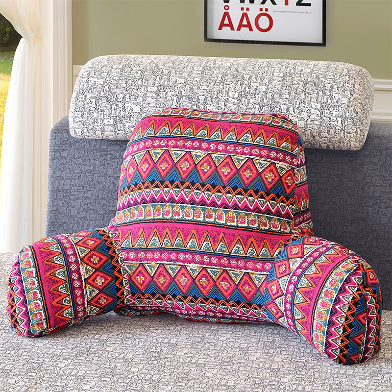 SunnyRain 1-Piece Cotton Linen Backrest Cushion For Sofa Cushion For Bed Back Support Include Pillow Core Washable