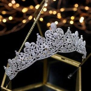Image 2 - Asnora coroa de noiva คริสตัลงานแต่งงาน Tiaras มงกุฎเจ้าสาวเจ้าสาวอุปกรณ์เสริมผม tiara nupcial