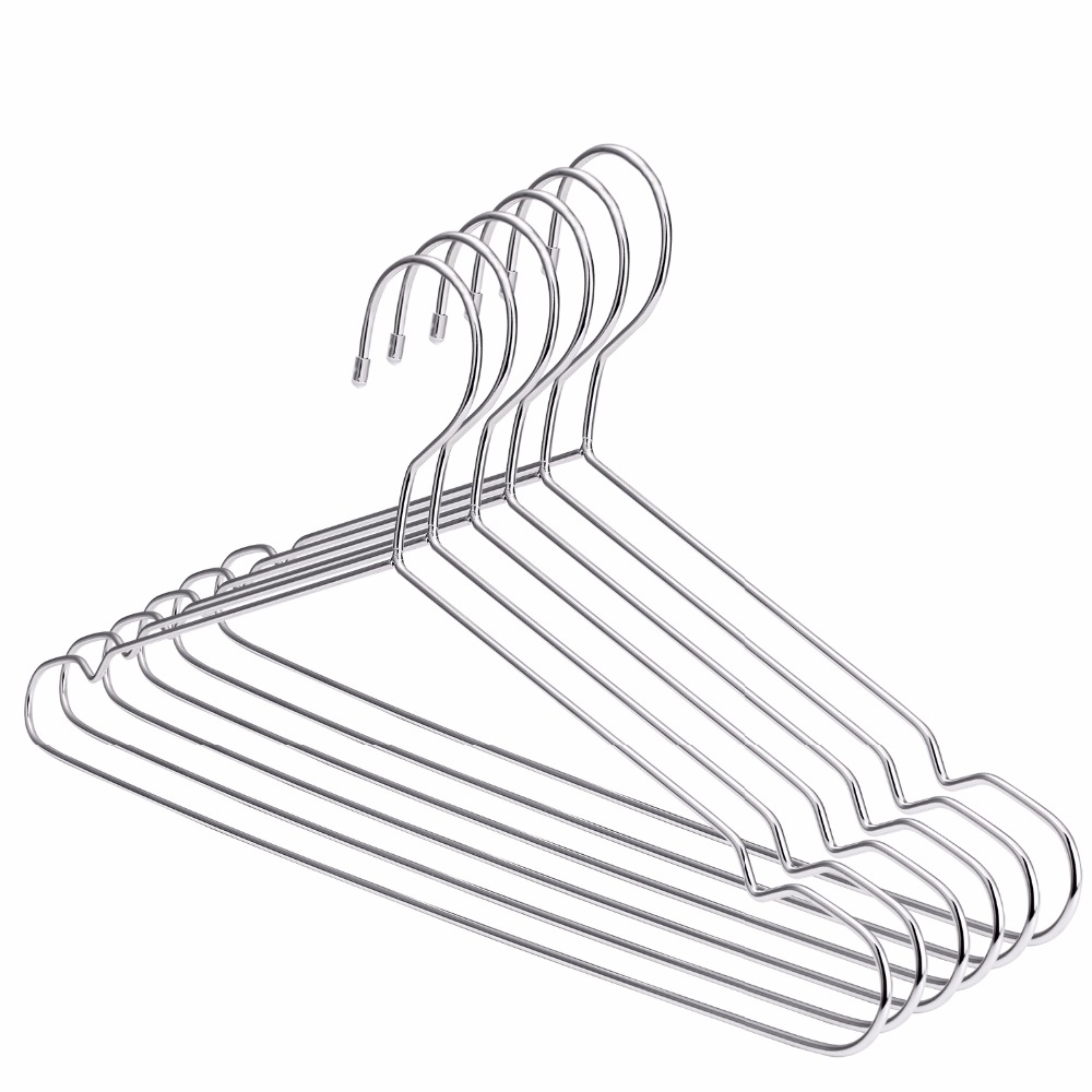 Hangerlink Super Strong Stainless Steel Metal Wire Hangers Clothes ...