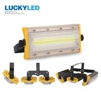 LUCKYLED Светодиодный прожектор светильник 50 Вт 100 Вт 150 Вт Точечный светильник напольный светильник AC220V 240V Водонепроницаемый IP65 светодиодный о...