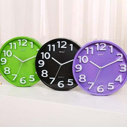 12 collu radošs modes pulkstenis dzīvojamā istabā Mūsdienu īss - Mājas dekors - Foto 2