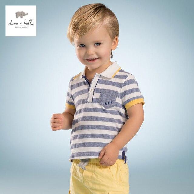 DB3486 дэйв белла лето baby boy полосатый мальчик хлопка майка детская одежда ковылять тройники мальчики топы дети футболку