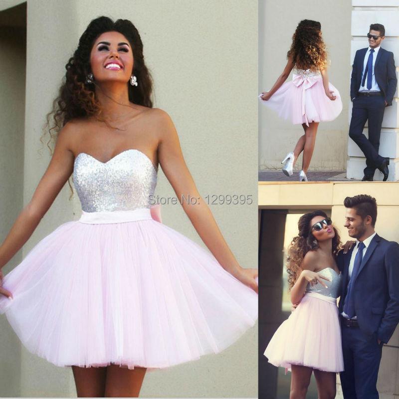 Pink Sequin Prom Dress Aliexpress