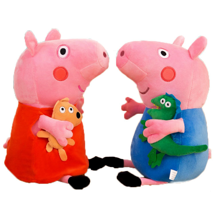 Cute 20/30/40/50cm Peppa pig George Family Plush Toy Stuffed Doll Party Decorations Peppa pig Ornament Keychain Toys For Childre 3