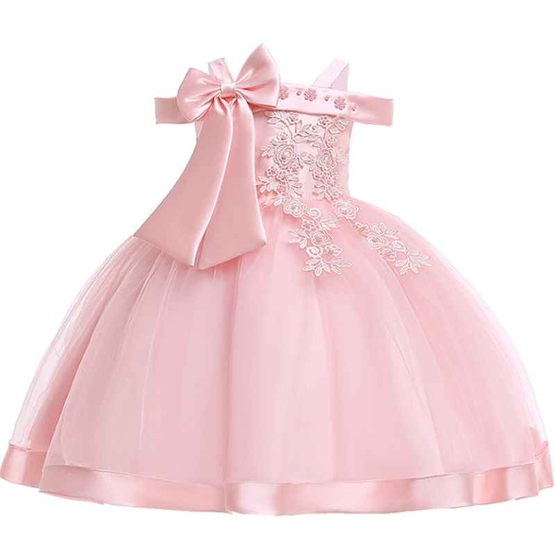 46642d3ad15f2 2019 Flower Girls dress for Girls Kids Clothing Satin Elegent Lace cutout  Shoulderless Girls Dresses for Children Party Custumes