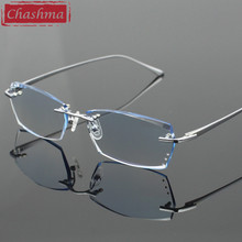 9b92d101bd Gafas recortadas con diamantes Chashma para hombre, gafas sin montura, lentes  de tinte, gafas ópticas de calidad, gafas de titan.