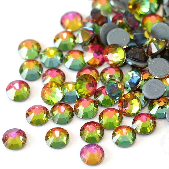2028 SS3-SS30 AAAAA Rainbow Hot Fix Rhinestone Flatback Glass Crystals  Glitter Strass Iron On 3497506ea9a3