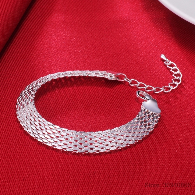 LEKANI Women's Fashion bracelet 925 sterling silver soft watchband charm bracelet & bangles fine jewelry Pulseiras de Prata 5