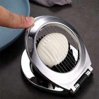 Multifunction Stainless Steel Egg Slicer Eggs Cutting Egg Wedges Fruits Slicing Strawberry Cheese Kitchen Tool