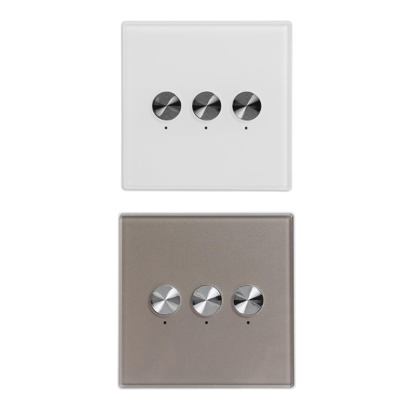 AC100-240V Smart Remote Control Switch 433MHz 3 Channels Wireless 30m Explosion-proof Switch Receiver for Light Lamp Panel ac 250v 20a normal close 60c temperature control switch bimetal thermostat