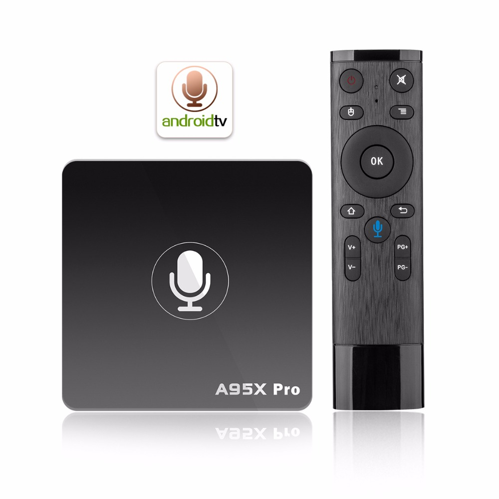 A95X Pro Android 7.1 TV Box S905W H.265 2GB+16GB WiFi LAN HD Box with 2.4G wifi Google Voice Control 4k Media player Set top box hd плеер sony nsz gs7 internet player with google tv