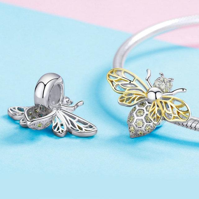 Strieborný korálik VČELA štýl Pandora Silver BEE Bead DIY Jewelry